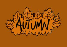 Autumn logo Stock Image