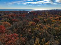 Autumn on Long Island by Drone stock photos