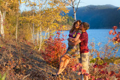 Autumn love Stock Images