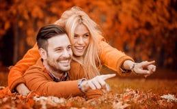 Autumn Love Royalty-vrije Stock Foto's