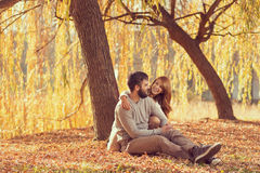 Autumn love Royalty Free Stock Photography