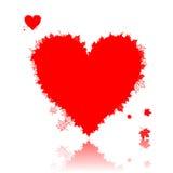 Autumn love, heart shape, leaf. Vector illustration Stock Photography