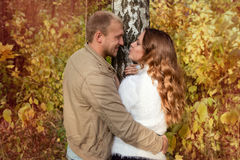 Autumn love story Royalty Free Stock Images