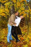 Autumn love story Stock Image