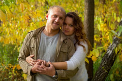 Autumn love story Stock Photography