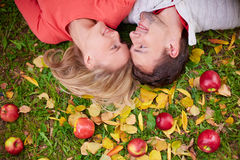 Autumn lovers Royalty Free Stock Image