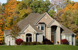 Autumn Luxury Stone Estate Stock Photos