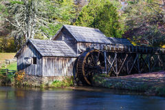 Autumn at Mabry Mill Stock Photo