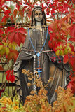 Autumn Madonna. A Madonna figure photographed in the Italian Umbria region Stock Image