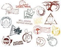 Autumn Mail stock illustration