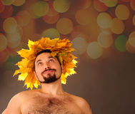 Autumn man. Royalty Free Stock Photos