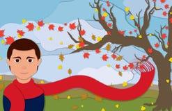 Autumn Man dans la vue de portrait illustration libre de droits