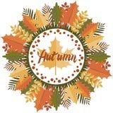 Autumn Mandala. Circular pattern. Stock Image