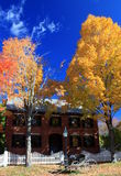 Autumn Mansion Stock Photo
