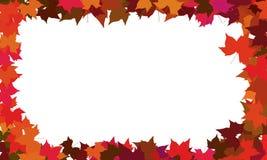 Autumn maple border Royalty Free Stock Image