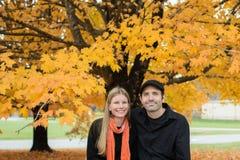 Autumn Maple Couple Royalty-vrije Stock Foto