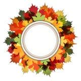 Hello Autumn Decorative Ring Frame vector illustration