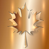 Autumn Maple Leaf metálico Imagen de archivo libre de regalías