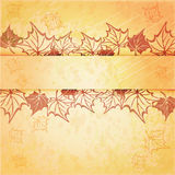 Autumn maple leaf vector frame with copy space on Royalty Free Stock Image