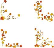 Autumn Maple Leaves Border Set stock foto's