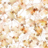 Autumn maple leaves pattern background. EPS 10 Stock Photo