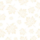 Autumn maple leaves pattern. Seamless  pattern with leaves. Background for your design wallpapers, pattern fills, web page, surface textures Royalty Free Stock Photo