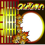 Autumn. Maple leaves, Season, Vector, Design, Ideas, Grid Royalty Free Stock Photos