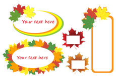 Autumn maple leaves, set of banners. Vector illustration Stock Image