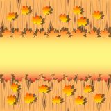 Autumn maple leaves on wood background. Vector Illustration Royalty Free Illustration