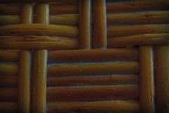 Autumn Maple painted Wooden wicker texture of basketwork for background use Stock Photo