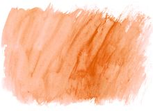 Autumn Maple watercolor brush strokes as background. Autumn Maple orange watercolor brush strokes background. Space for your own text and desing vector illustration