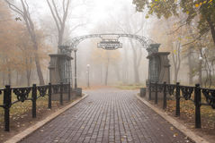 Autumn Mariinsky park in Kiev Stock Photo