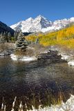 Autumn at Maroon Bells - Vertical Stock Photography