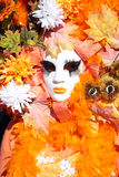 Autumn mask at the Carnival of Venice Stock Image