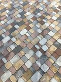 Textured tile-colored stone is very beautiful. stock images