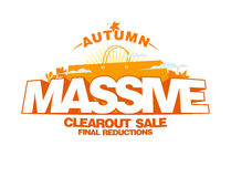 Autumn massive clearout sale design Royalty Free Stock Photo