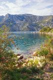 Autumn Mediterranean landscape. Montenegro, Bay of Kotor. Beautiful autumn Mediterranean landscape. Montenegro, Adriatic Sea, Bay of Kotor royalty free stock photos