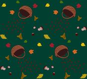 Autumn melancholy. Seamless pattern background Stock Photos