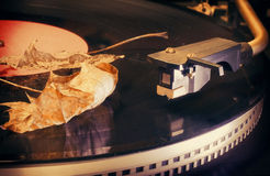 Autumn melody retro Royalty Free Stock Image