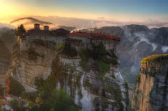 Autumn in Meteora, Greece - monastery St. Barlaam Royalty Free Stock Photo