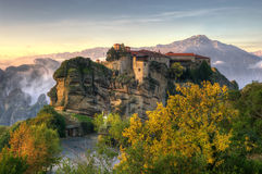 Autumn in Meteora, Greece - monastery of St. Barlaam Royalty Free Stock Images