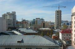 Autumn metropolis in sunny day stock photo