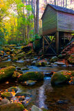 Autumn mill. Mill and autumn colors in tennessee Royalty Free Stock Photos