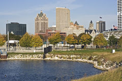 Autumn in Milwaukee. Autumn in downtown Milwaukee, Wisconsin Stock Photos