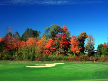 Autumn in Minnesota. Golf course in September in the state of Minnesota Royalty Free Stock Photo