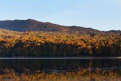 Autumn mirror reflection in lake Pasanauri, Georgia Stock Photos