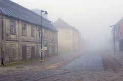 Autumn mist urban Royalty Free Stock Photo