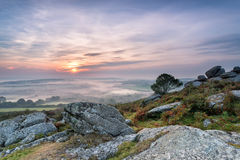 Autumn Mists over Cornwall Royalty Free Stock Photography
