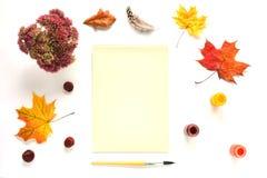 Autumn Mock Up imagem de stock royalty free
