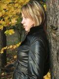 Autumn model Stock Photography